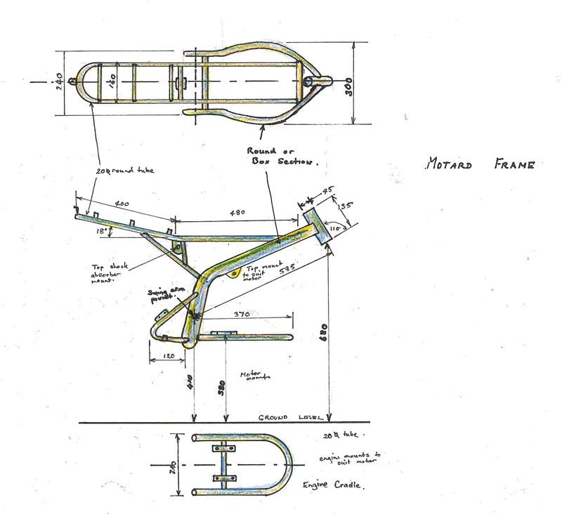 mini moto nz c frame motard diagrams